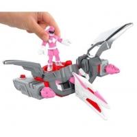 Imaginext Power Rangers - Ranger Rosa e Zord Pterodáctil - CHJ01 - Mattel