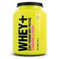 Suplemento 4 Plus Nutrition Whey+ 100% Premium Whey Protein Morango com Banana 900g