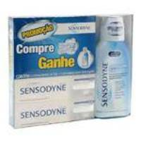 Creme Dental Sensodyne Extra Fresh Com 50 Gramas Com 2 Unidades Gratis Solução Bucal Sensodyne Com 3