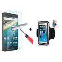 Braçadeira Armband E Película De Vidro Para Motorola Moto Maxx