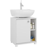 Balcão BRV para Banheiro 1 Porta BBN 01-06 Branco