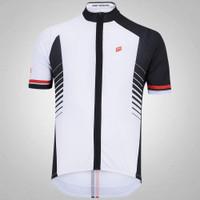 Camisa De Ciclismo Barbedo Razor Branco e Preto