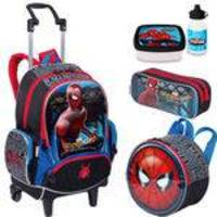 Kit Mochila Spiderman 18Z Lancheira e Estojo Sestini