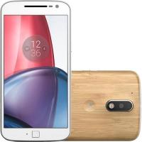 Smartphone Motorola Moto G4 Plus XT1640 Dual Chip 32GB Android 6.0 Branco Bamboo