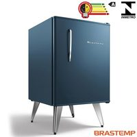 Frigobar Brastemp Bra08bz Retrô 76 Litros Midnight Blue
