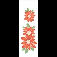Stencil OPA 10×30 Simples Flor Natalina – OPA 1112