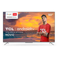 Smart TV TCL LED Ultra HD 4K 50 Android TV com Google Assistant, Bordas Ultrafinas e Wi-Fi - 50P715