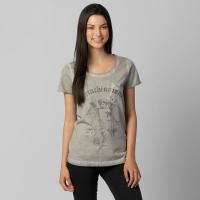 Camiseta Corinthians Anjo Corinthianismo Feminina Cinza  fbbf5dcf5b569