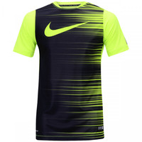 65dc407e85 Camiseta Nike GPX SS Flash II Masculina Verde Claro e Preto