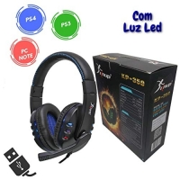 Headset Gamer Fone Com Microfone Usb Pc Notebook Ps4 Kp-359