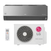Ar Condicionado Split Hw Dual Inverter Voice Art Cool Lg 18000 Btus Quente/Frio S4NW18KLRPA.EB2GAMZ