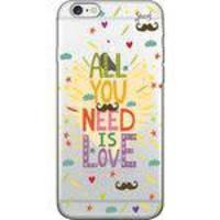 Capa Capinha para Celular - Spark Cases - All You Need is Love - Transparente - Iphone 6 Plus