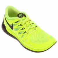 lowest price 7a5b7 abf53 Tênis Nike Free 5.0 Masculino Preto Verde Limão