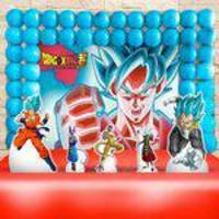 Kit Aniversário Festa Infantil Dragon Ball Super Kit Ouro