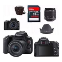Câmera Canon Eos Rebel Sl3 Lente 18-55mm f4-5.6 Is Stm + Bolsa + Para Sol + 32gb Revenda Autorizada Com Garantia Canon Oficial De 1 Ano e Nf-e