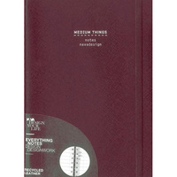 Medium Things, Ring Bound, Violet: Ruled Pages