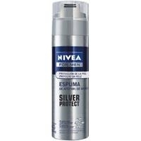 Espuma De Barbear Silver Protect For Men Nivea 200 Ml