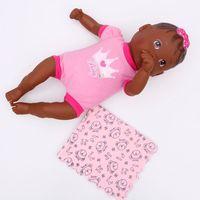 Boneca Nenenzinha Negra Com Paninho Rosa Divertoys Diversos