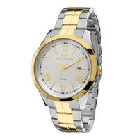 Relógio Technos Feminino Prata e Dourado Analógico 2115MGN/5K