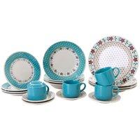 Aparelho De Jantar Chá 20 Peças Biona Cerâmica Redondo Donna
