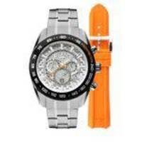 0667fd4a4fba6 Relógio Masculino Technos Carbon + Pulseira de Silicone OS20HM 1B