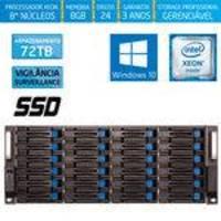 Servidor-storage Silix X1200h24 V6 Intel Xeon 3.5 Ghz / 8gb / Ssd / 72tb Vigilância / Raid / Win 10