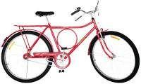 Bicicleta Monark Barra Circular CP Transporte Aro 26 Vermelha