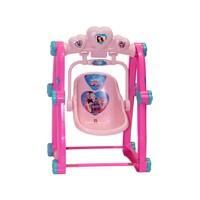 Cadeira De Balanço Infantil Carinha De Anjo Rosa Biemme