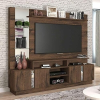 Estante para Home Theater e TV 60 Polegadas Munique Café 200 cm