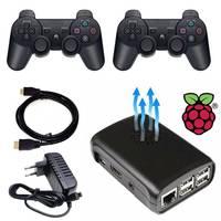 Console de Video Raspberry Pi3 7000 Recalbox com 2 Controles PS3