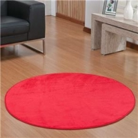 Tapete Markine Liso Redondo 1,10x1,10 M Vermelho