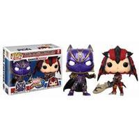 Boneco Funko Pop Marvel Vs Capcom Black Panther Vs Monster Hunter 2Pack