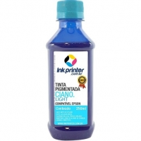 Tinta Pigmentada InkPrinter para Bulk Ink Impressora Epson - Ciano Light (250 ml)