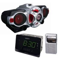1d3f7210280 Rádio Gravador Sony CFD-RG880 + Rádio Relógio Sony ICF-C414 + Rádio Portátil