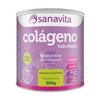 Suplemento Sanavita Colágeno Abacaxi com Hortelã 300g
