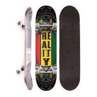Skate Completo Semi Profissional Reality Reggae Street Preto