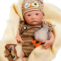 Boneca Bebê Com Acessórios Reborn Pelúcia Hoot Hoot Shiny Toys