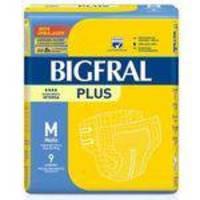 Kit 8 Pac. Fralda Geriátrica Bigfral Plus - Tam: M - 72 Unidades