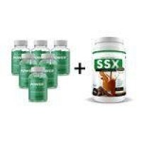 Combo 6 Potes Phyto Power Caps 60 Capsulas  + Ssx Shake 500G - Chocolate