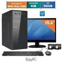 Computador Easypc 5406 Dual Core 2.41GHz 4GB 500GB 15.6 Windows 10