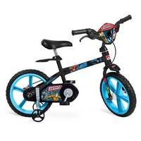 Bicicleta Bandeirante Liga Da Justiça Aro 14 Azul e Preto