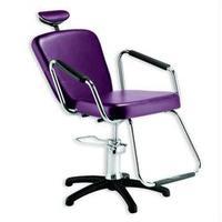Cadeira Nix Hidráulica Reclinável Para Barbeiro E Maquiagem, Roxa -Dompel