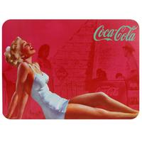 Jogo Americano e Porta-copos Coca-Cola Blond Lady 4 Peças