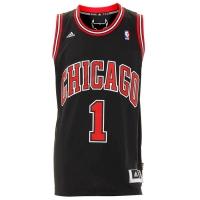 cf341e4e37d15 Regata Adidas Nba Swingman Chicago Bulls 1 Derrick Rose - Preta Tamanho GG