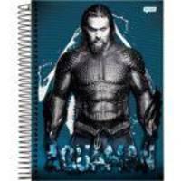 Caderno Universitário Aquaman Azul 10 Matérias Jandaia