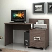 Mesa Home Office Para Computador E Notebook Mirarack Atlanta Plus Rustico Rilievo 132Cm