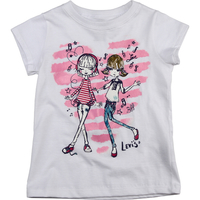 1790193c84370 Camiseta Levis´ Kids Fashion Girls Infantil Branca