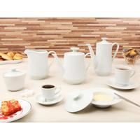 Aparelho De Chá E Café Clássica Noiva 53 Peças Em Porcelana Schmidt