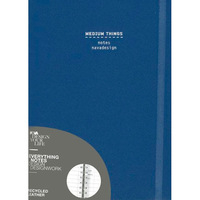 Medium Things, Ring Bound, Blue Denim: Ruled Pages