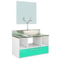 Gabinete para Banheiro VTEC Omicron Aqua